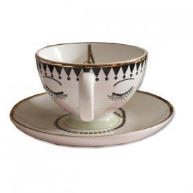 TASSE A THE DECOR VISAGE MISS ETOILE